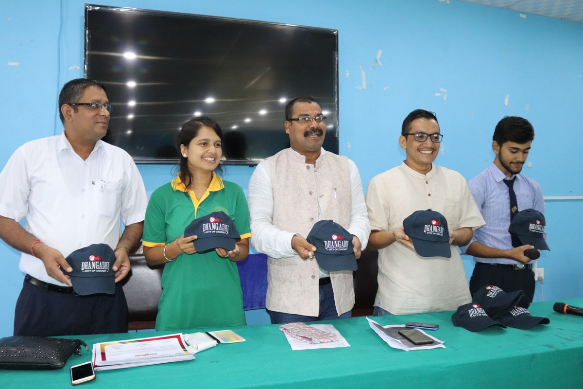 धनगढी सिटी अफ क्रिकेटको टोपी लञ्च