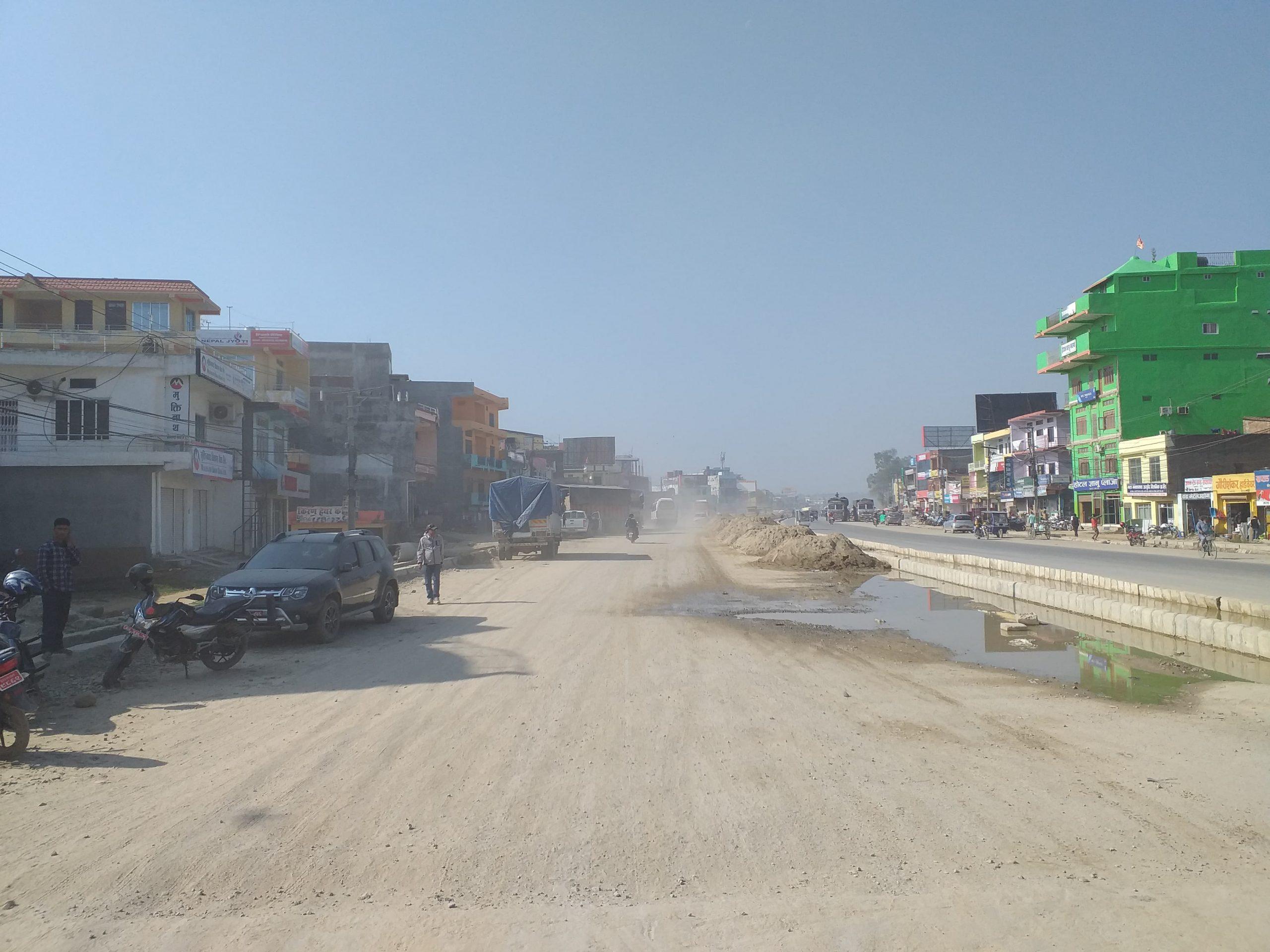 धुलाम्मे धनगढी, ठेकेदारको पुरानै गतिमति (फोटो फिचर)