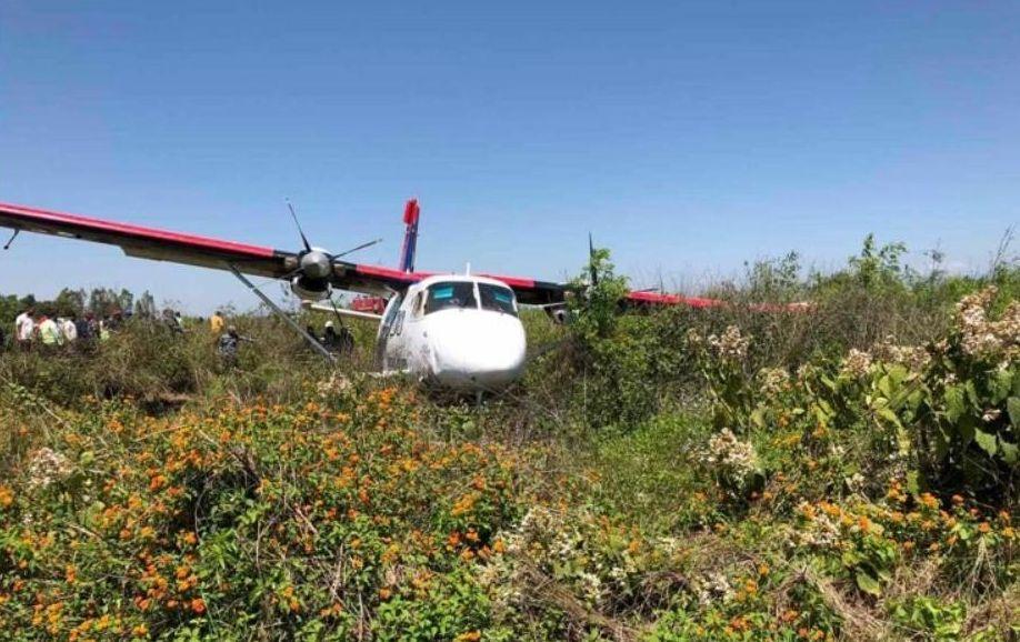 नेपाल एयरलाइन्सको जहाज धावनमार्गमा चिप्लियो